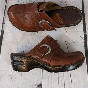 B.O.C Born Concept Brown Leather Mules Shoes